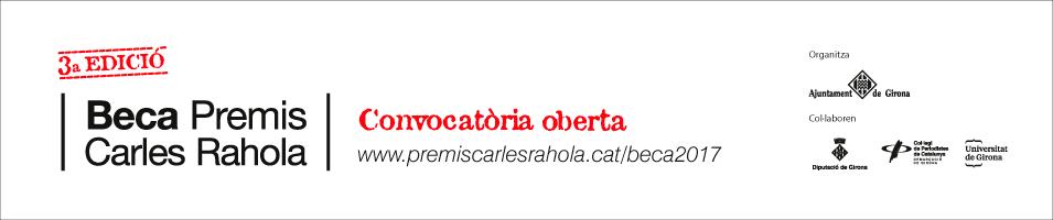 Beca Carles Rahola 2018